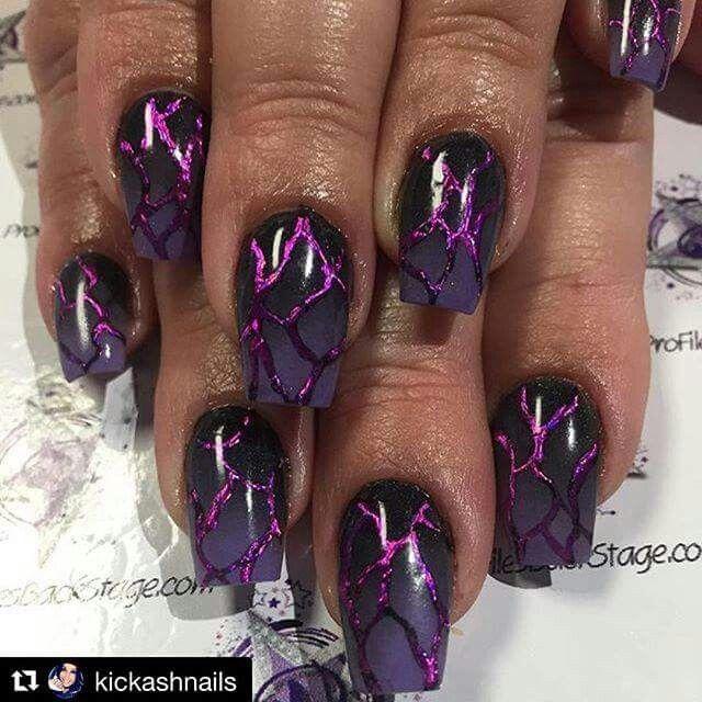 # Purple Nail Art