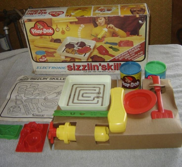 Vtg 1981 Kenner Play-Doh Sizzlin' Skillet Toy Set Food
