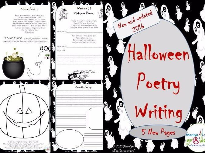 Halloween Themed Poetry Unit