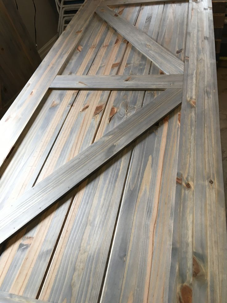 Grey Wash Stain On Pine Barn Door In 2019 Wood Barn Door