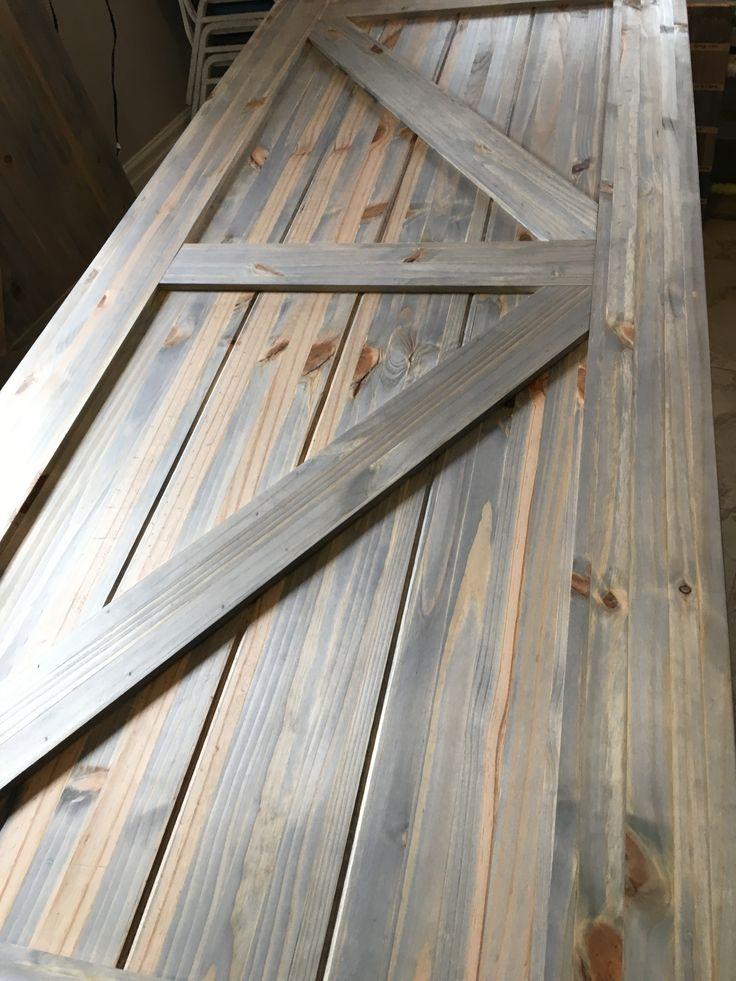 Grey Wash Stain On Pine Barn Door In 2019 Wood Barn Door