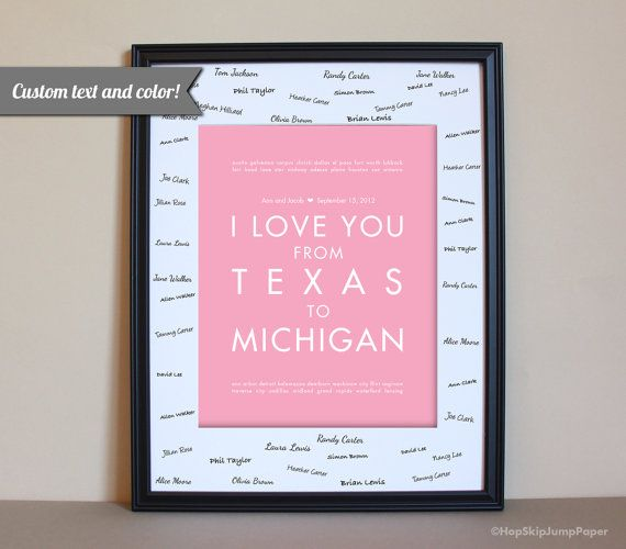 Choose Your Locations And Color To Personalized Wedding Art Print Hang Poster In