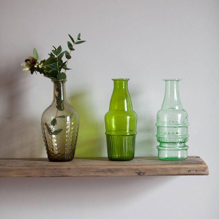 Set Of Three Glass Vases