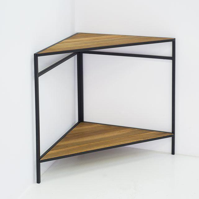 Table de jardin pliable en métal et acacia