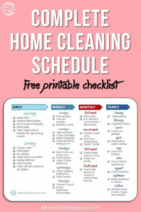 How To Simplify Your Home Cleaning Schedule