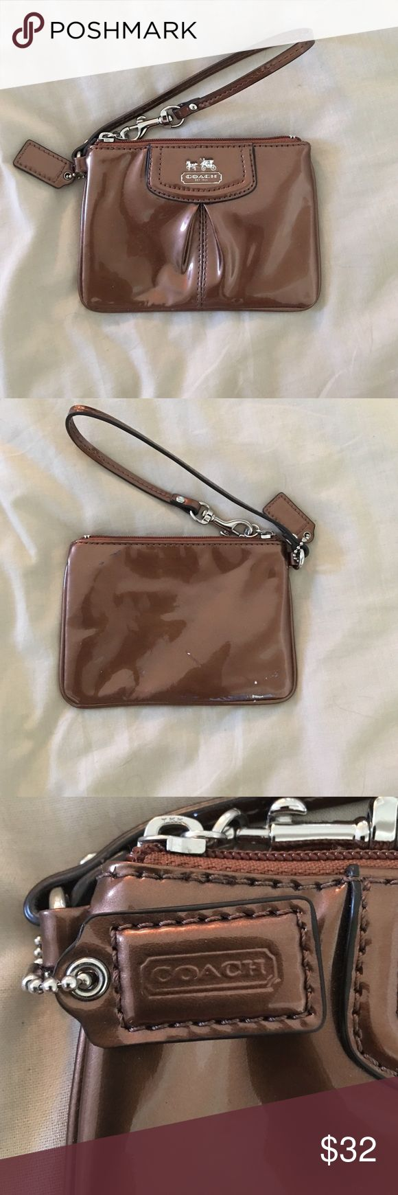 Baby Coach clutch Small coach clutch. Perfect for a night out. Never used but minor scratches Bags Clutches & Wristlets