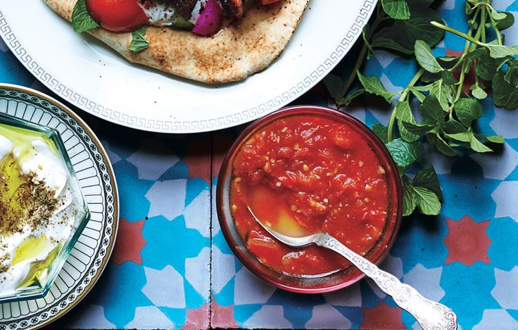 "Briefly cooking the tomatoes is key—the finished sauce should still be very fresh-tasting.  Lebanese Tomato ""Salsa"""