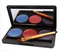 Venta caliente de 3 colores de sombra de ojos Paleta Shimmer sombra de ojos mate de Comestic Kit Paletas Profesional Maquillaje Herramientas de envío gratis
