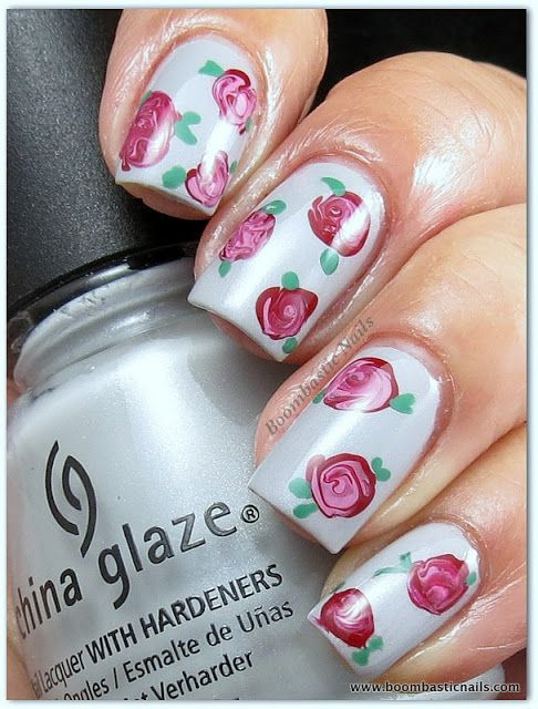 The 25 best vintage rose nails ideas on pinterest rose nail boombastic nails vintage rose nails prinsesfo Choice Image