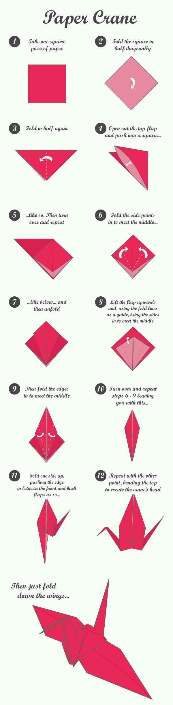 48 Best Origami Images On Pinterest Paper Boats And 3d Swan Diagram Http Howtoorigamicom Origamiswanhtml Diy Crane Tutorial Folding Craft Something I Aspire Too Hear The Is One Of Most Intimidating Creations