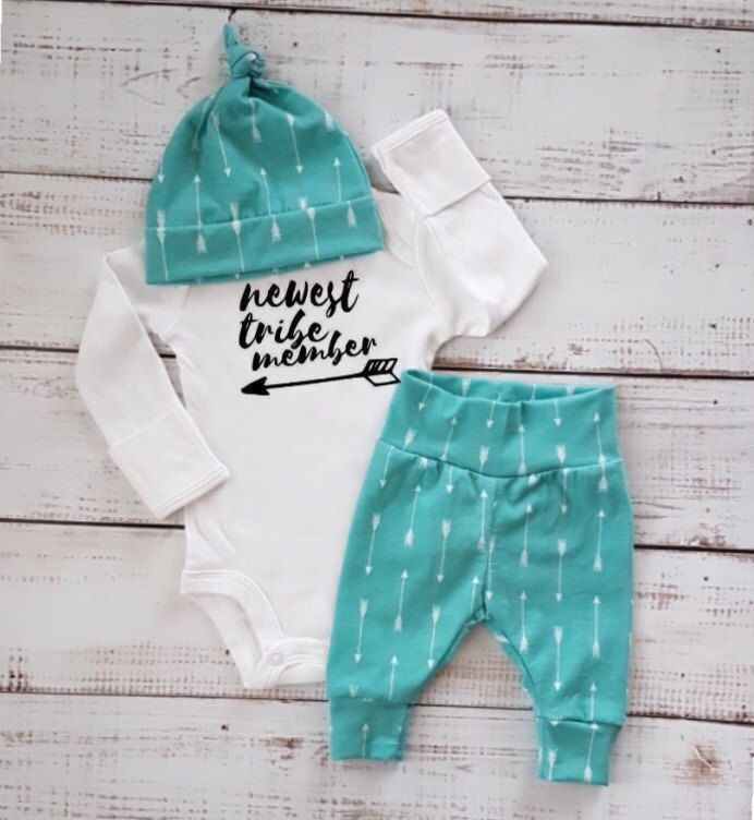 A personal favorite from my Etsy shop https://www.etsy.com/ca/listing/504451626/baby-boy-coming-home-outfit-deer-newborn