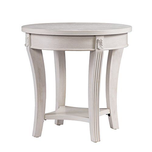 Furniture Hotspot Round Side Table Whitewashed 24 Diy End