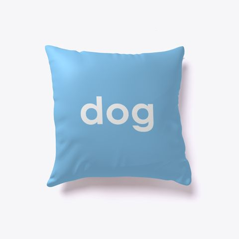 Dog And Cat Reversible Pillow Light Blue. Dog lover? Cat lover? Evenly split household? Now you can show your love for both with our reversible dog-cat pillow. Just turn it over to impress guests who love one over the other. Buy one today!