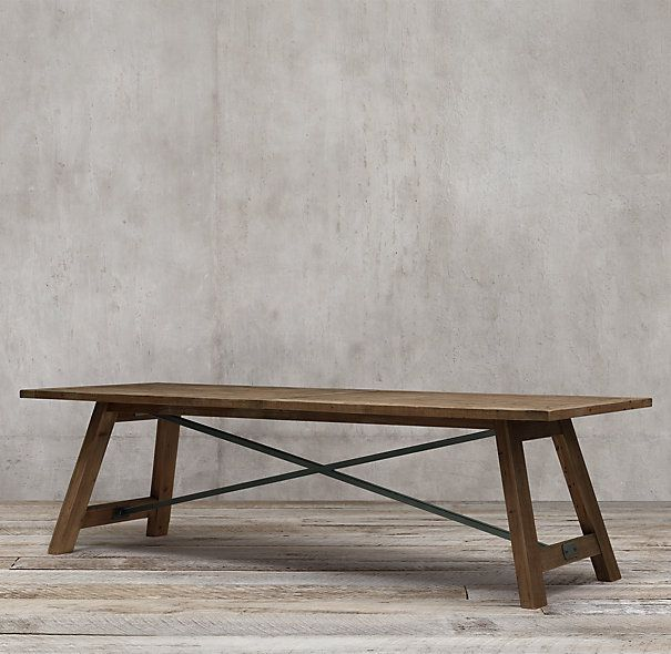 Railway Trestle Dining Table