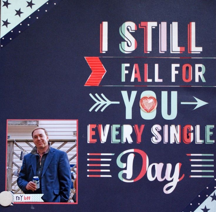 I still fall for you... - Scrapbook.com  Love the Trend Setter Collection from Fancy Pants Designs