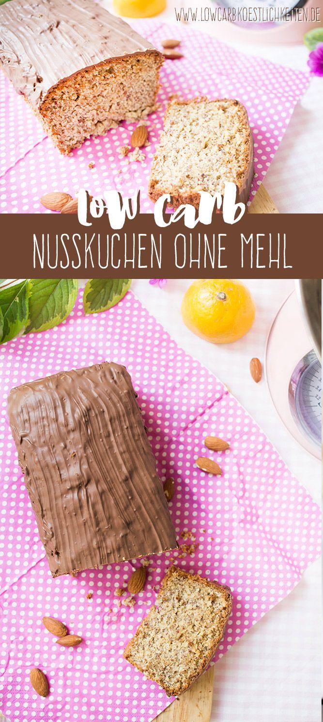 Low Carb Nusskuchen ohne Mehl www.lowcarbkoestlichkeiten.de