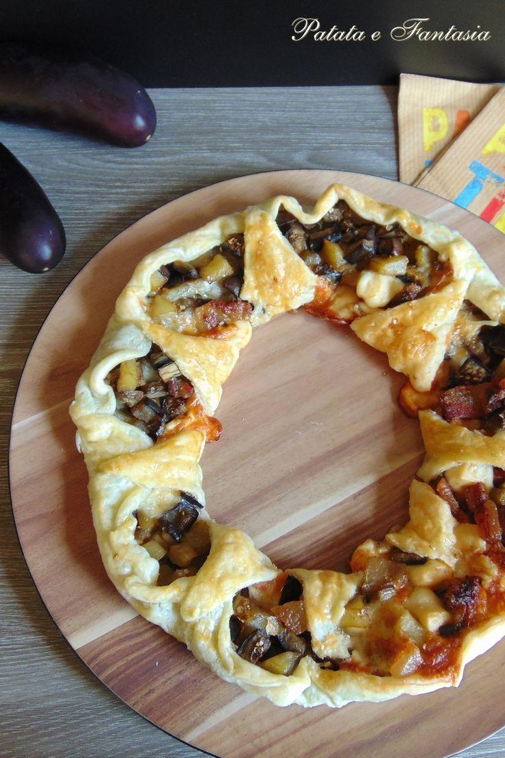 CORONA SALATA CON VERDURE E GUANCIALE #ricetta #tortasalata #ricettasfiziosa #antipasti #tortadi verdure #ricetteconpatate #tortasalatacorona #ricettasfiziosa