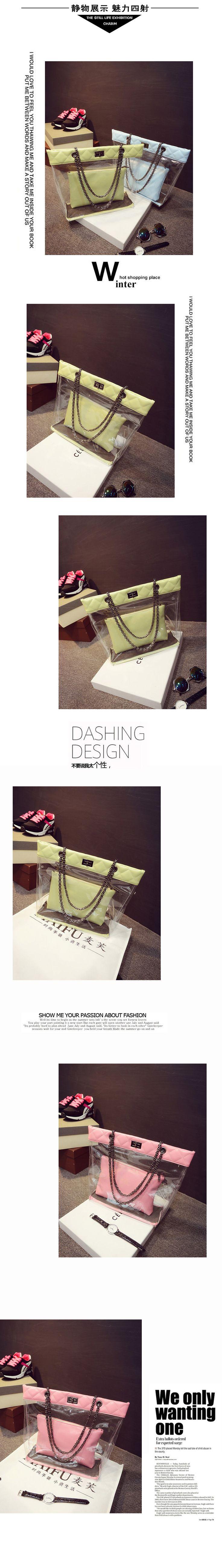 Çanta 2015 yeni bahar ve yaz moda rahat yeni macarons şeffaf renk şeffaf plaj çantası gelgit resim - Taobao
