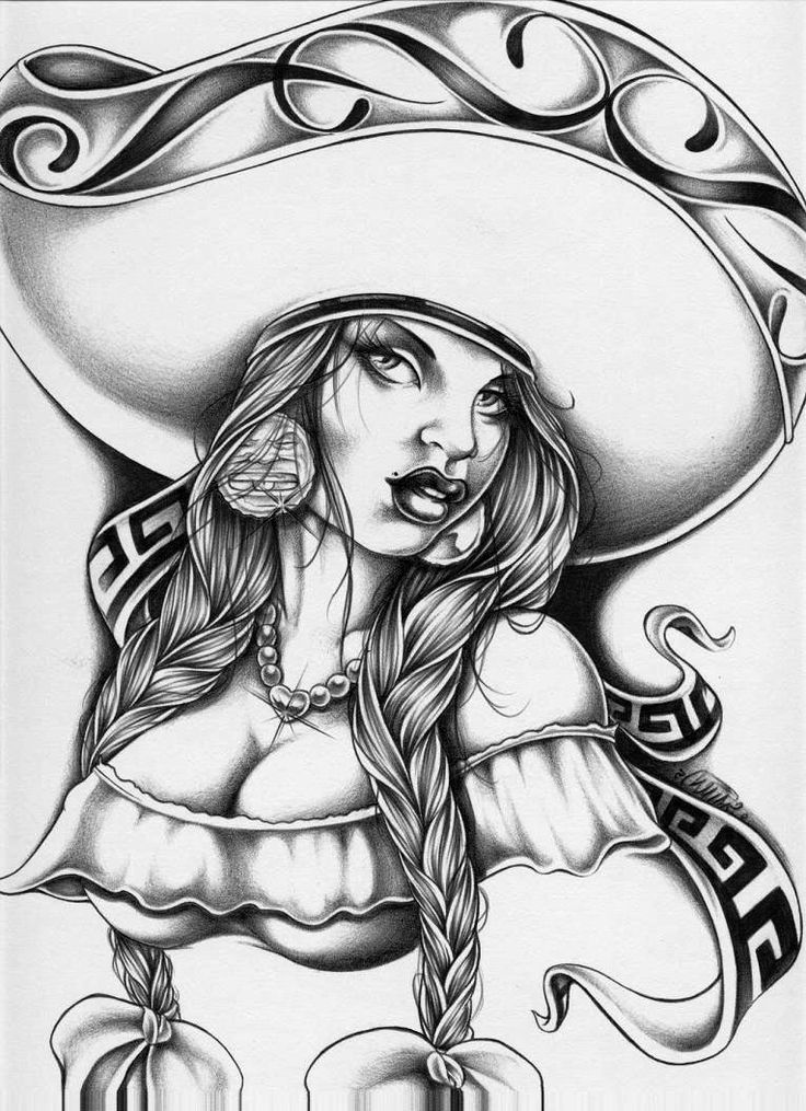 Gangster Chola Drawings Mexican gangster drawings
