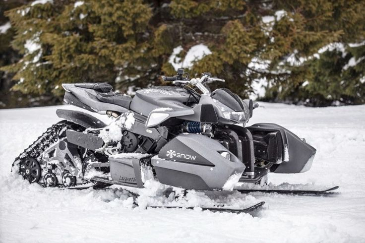 Triazuma Snow mobile by Lazareth. Ok it not quite on wheels, but it starts off as a quad bike!!