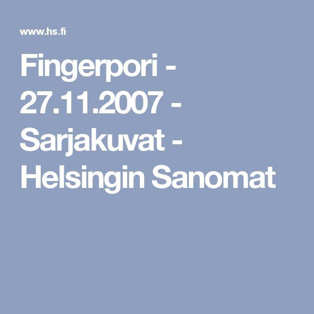 Pyhäinpäivä. Fingerpori - 27.11.2007 - Sarjakuvat - Helsingin Sanomat