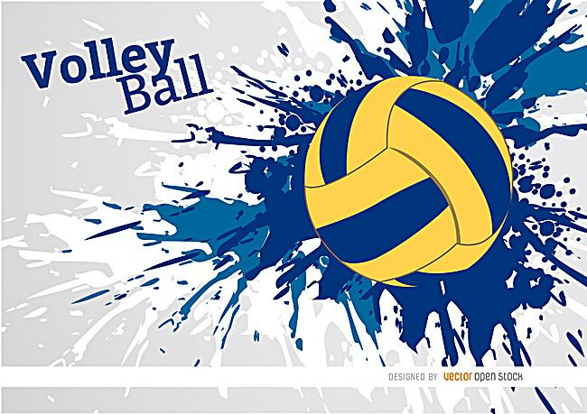 Cartoon Volleyball Background Material Volleyball Wallpaper Volleyball Designs Volleyball Backgrounds