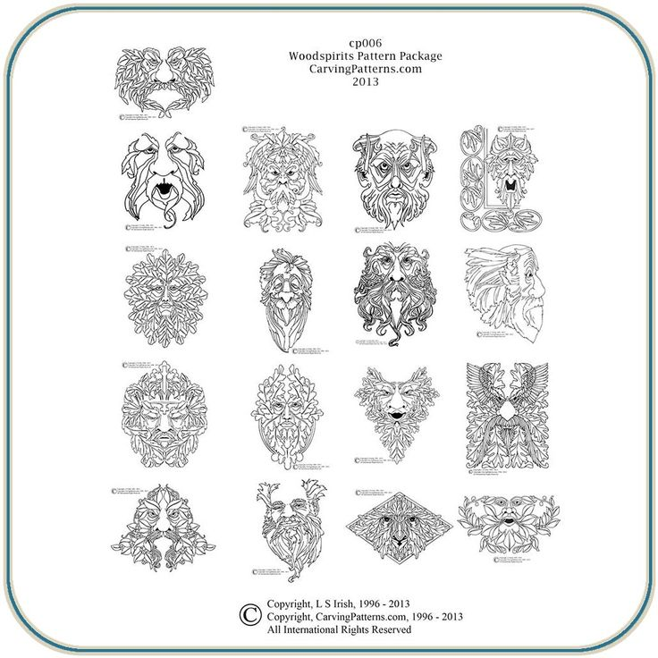 ... patterns free | Wood Spirit Pattern Package - Classic Carving Patterns