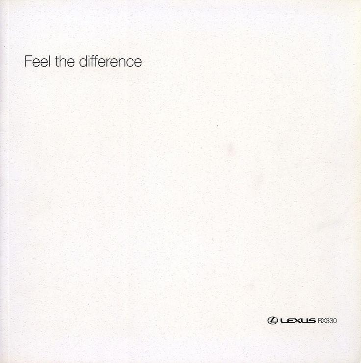 https://flic.kr/p/EyKJJt   Lexus RX330 - Feel the difference; 2001_1  (Australia)   front cover car brochure by worldtravellib World Travel library