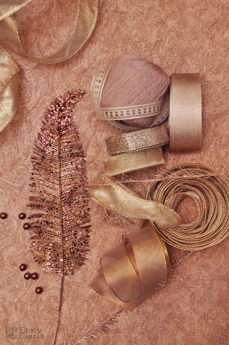This is a bit too rose gold, but I like the textures for your ribbons. What do you think of a mix?