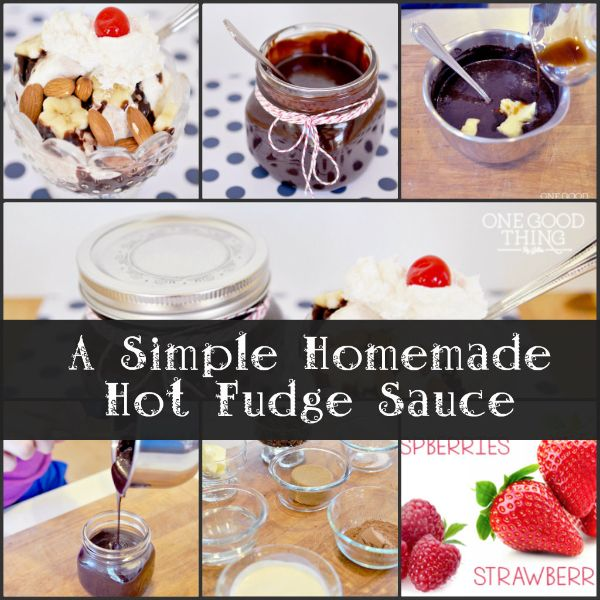 Simple Homemade Hot Fudge Sauce | Recipes | Pinterest