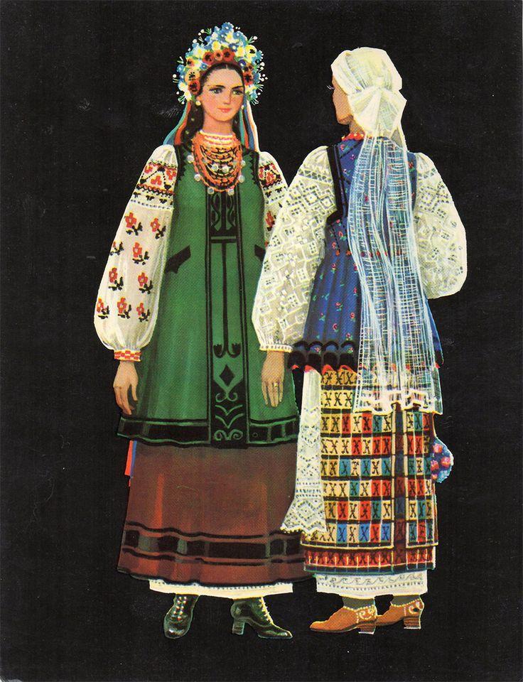 invitation to wedding ukrainian textiles and traditions%0A Ukrainian Costume  Artist A  Perepelitsa  Vintage Postcard  Printed in the  USSR