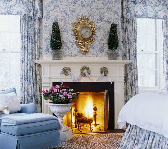 81 best toile images on pinterest toile canvases and for Beautiful traditional bedroom ideas