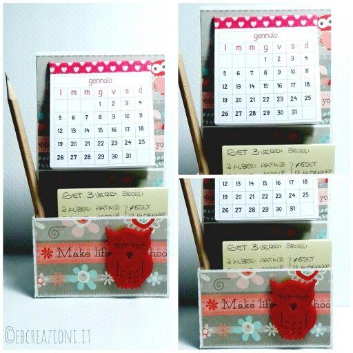 Porta post-it con calendario