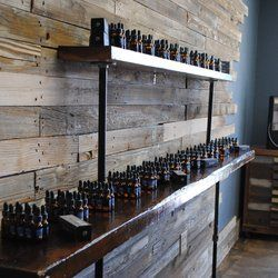 rustic bar for vape shop - Google Search