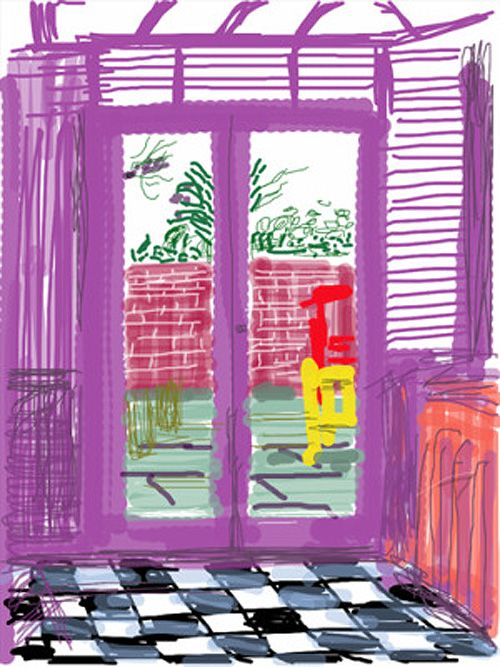 Pop artist David Hockney's use of the iPhone and iPad to make drawings of flowers and sunrises that he shares with his pals has been widely publicized over the past two years, but our friends at AR…