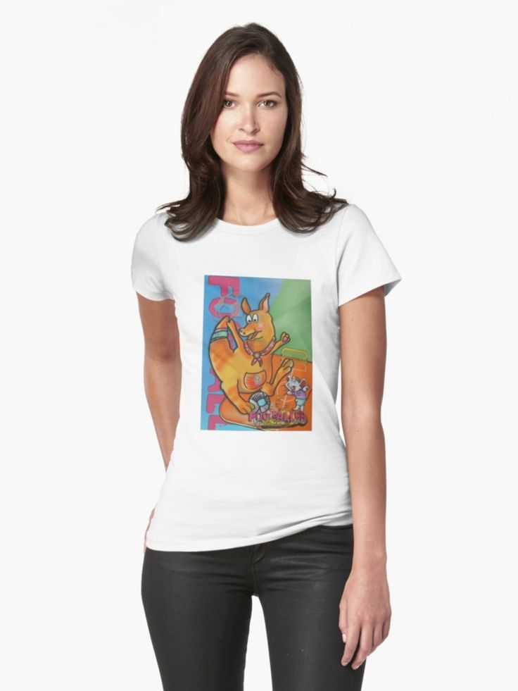 Footballer Kangaroo and Mouse (Original Drawing) Womens T-Shirt