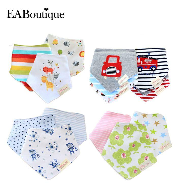 Free shipping 3 pcs baby boys girls bibs 100% cotton double layer quality child bibs Cravat Infant Towels
