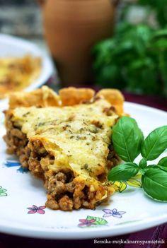 tarta, bolognese, zapiekanka, mieso mielone, bernika, kulinarny pamietnik