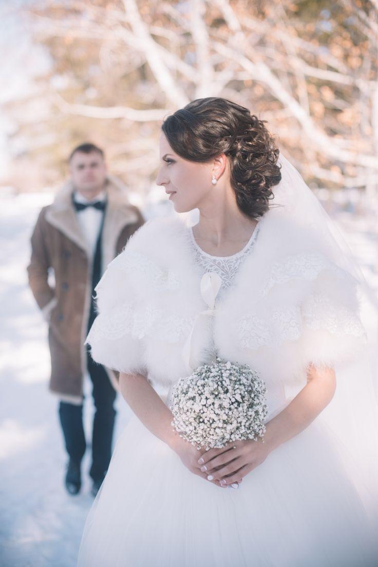 Свадьба зимой. 14 февраля. Любовь. Семья. Невестка. Свадебный образ. Прогулка на природе. Зимний лес.
