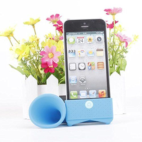 Lovely Design Horn Shape Silicon Loudspeaker For iPhone 4 4S Color Green. Apple Accessories. iPhone Accessories. Lens & Gadgets.