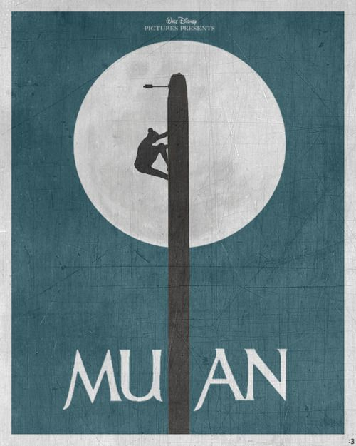 Minimal Film Poster - Mulan (1998)