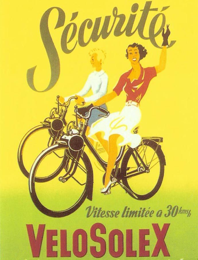 1950s poster for Solex