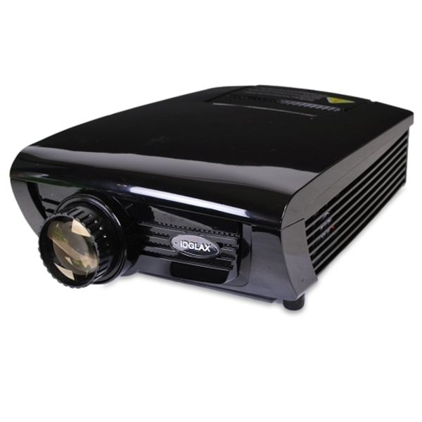 iDGLAX DG-737 LED 1080P HD Projector w/HDMI VGA AV & COAX - 800x480 Native (1920x1080 max) - B