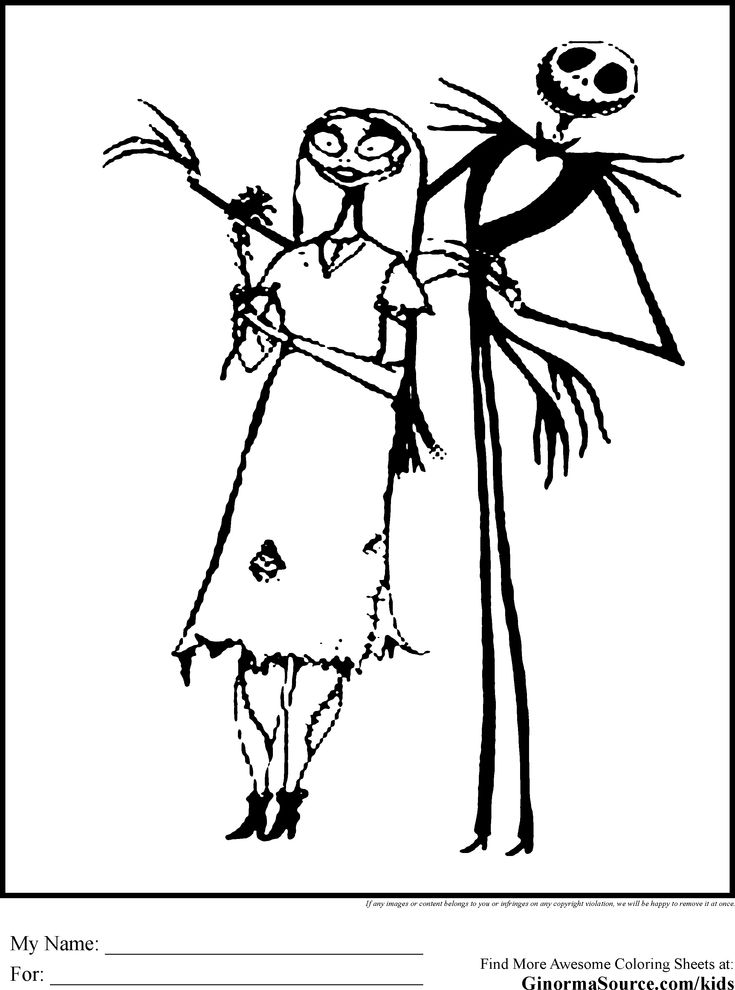 Nightmare Before Christmas Coloring Pages Is Tim Burton Halloween Jack Skellington Page Sally Oogie Boogie Lock Shock And Barrel