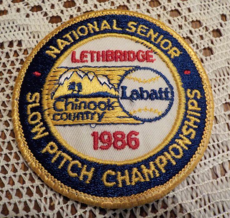 Vintage Lethbridge Labatt Beer 1986 National Slow Pitch