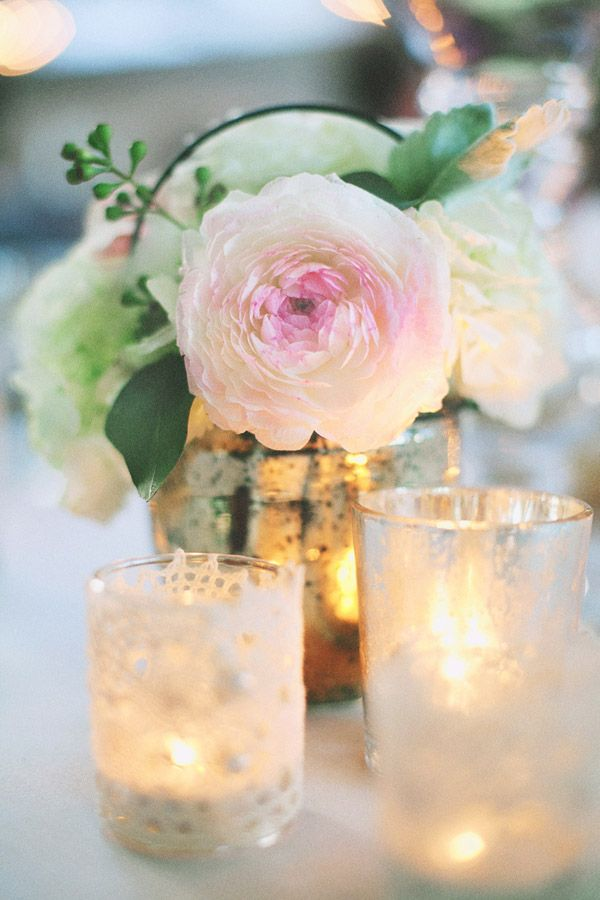 Candles, glass jars, candelabras and candle stands. All so very pretty!  More inspiration: www.fb.com/labolaweddings Or Follow me: twitter.com/Lala4e_Labola