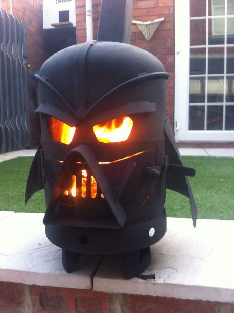 That's one way to roast a Stuff'n Mallow. May the S'morce be with you! I can think of a couple people who would enjoy this.