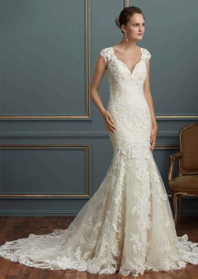 Fit-and-Flare Amare Couture Bridal Wedding Dress