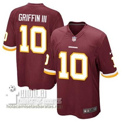 Camisetas Nfl Baratas Griffin III Washington Rojoskins #10 Rojo  €32.9