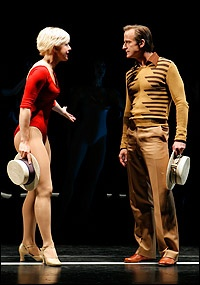 Michael Gruber as Zach and Nikki Snelson as Cassie - A Chorus Line (revival) National tour (2008 - 2009)